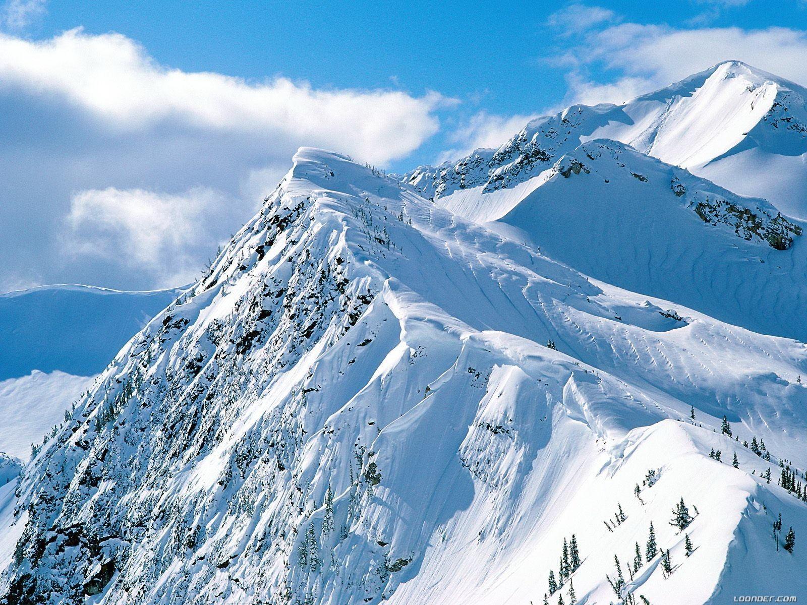 Sfondi Montagne La Neve Inverno Ricorrere Alpi Vertice