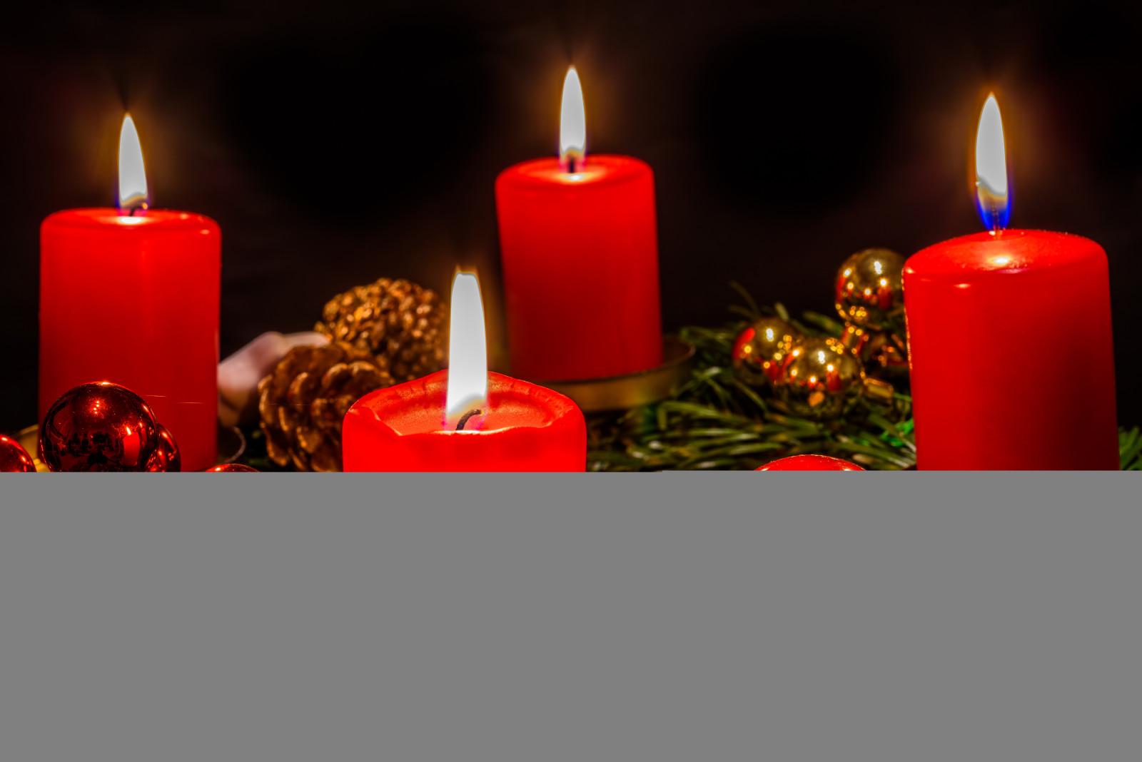 Hintergrundbilder rot kerzen nikon weihnachten - Advent hintergrundbilder ...