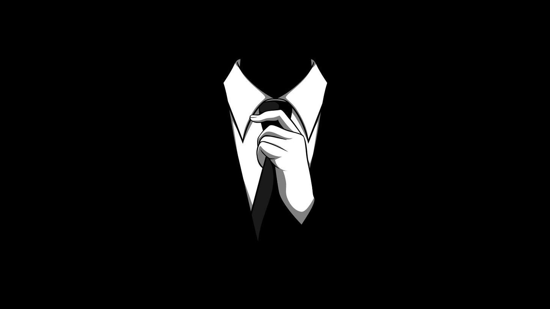 Wallpaper Illustration Minimalism Logo Suits Anonymous Wing