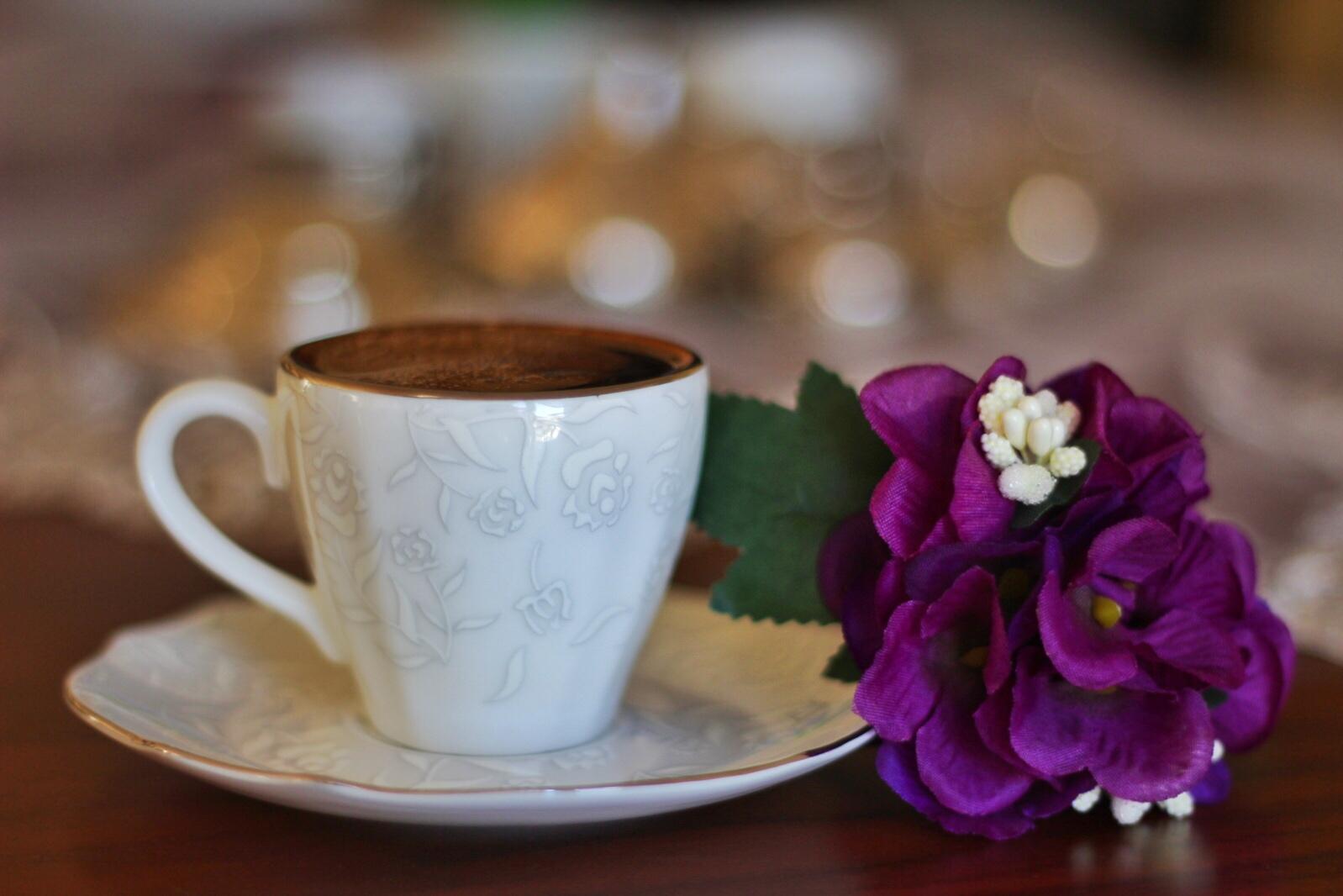 Открытки, картинки чашка кофе с цветком