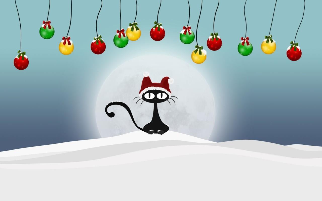 Papel De Parede Ilustracao Gato Neve Desenho Animado