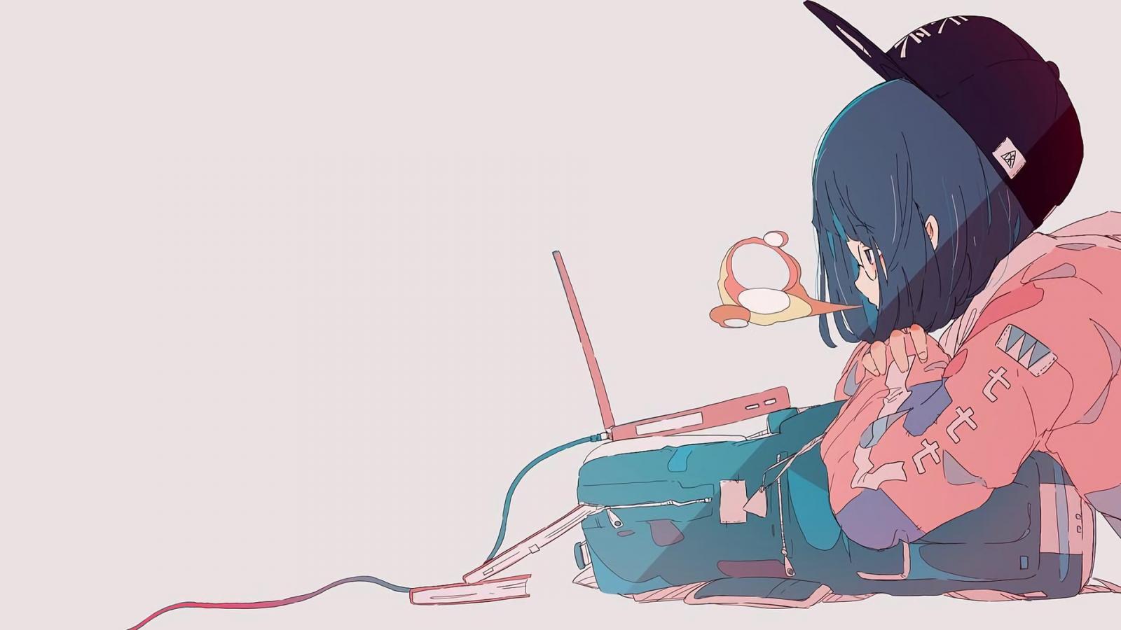 Wallpaper Manga Gadis Anime Latar Belakang Yang