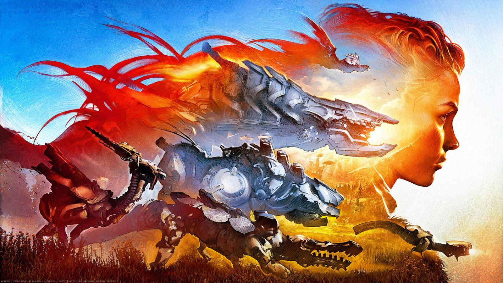 デスクトップ壁紙 図 Deviantart グラフィックデザイン ドラゴン 透かし入りの 神話 ホライゾンゼロドーン アート グラフィックス 19x1080 Px コンピュータの壁紙 架空の人物 フィクション 神秘的な生き物 水彩画 生物 アロイ ホライズンゼロ