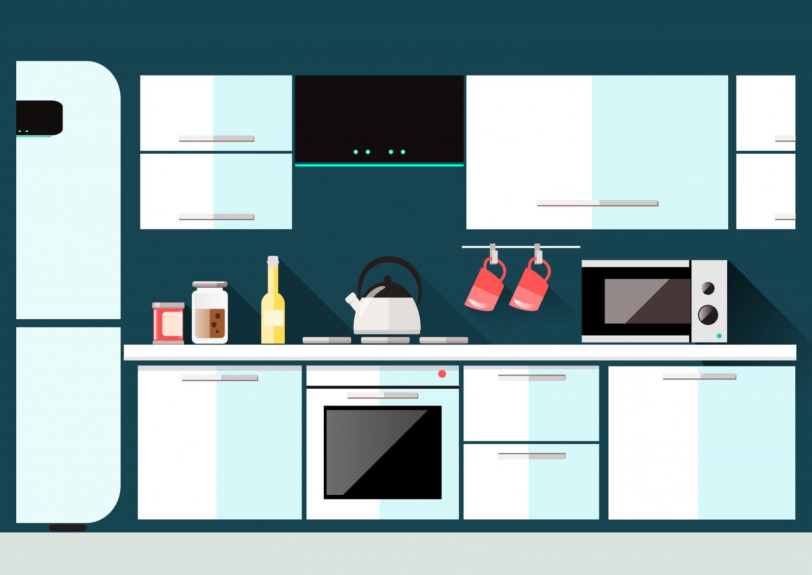 Fondos de pantalla dibujo ilustraci n obra de arte - Cocina dibujo ...