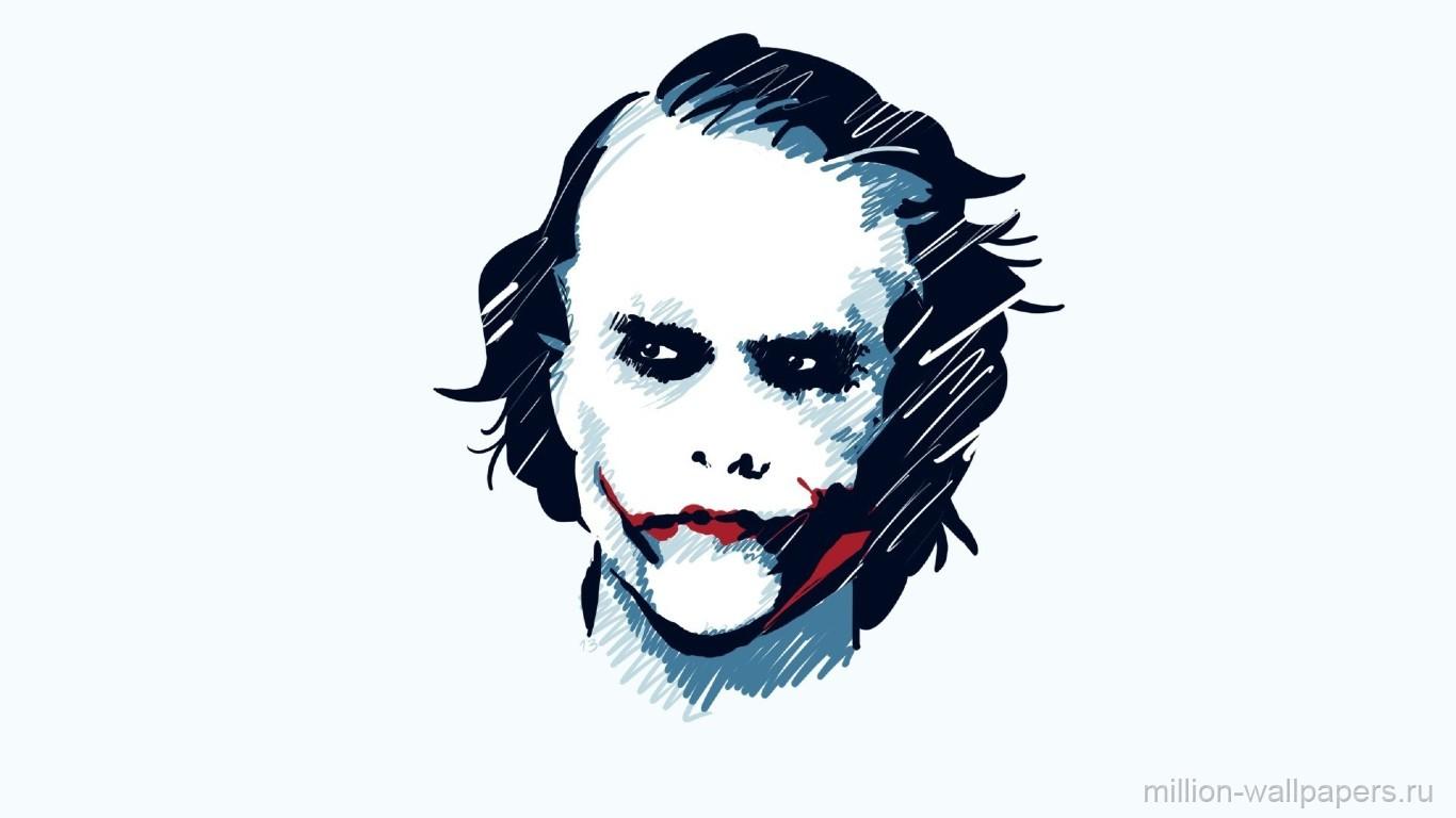 Wallpaper Face Drawing Illustration Batman Joker