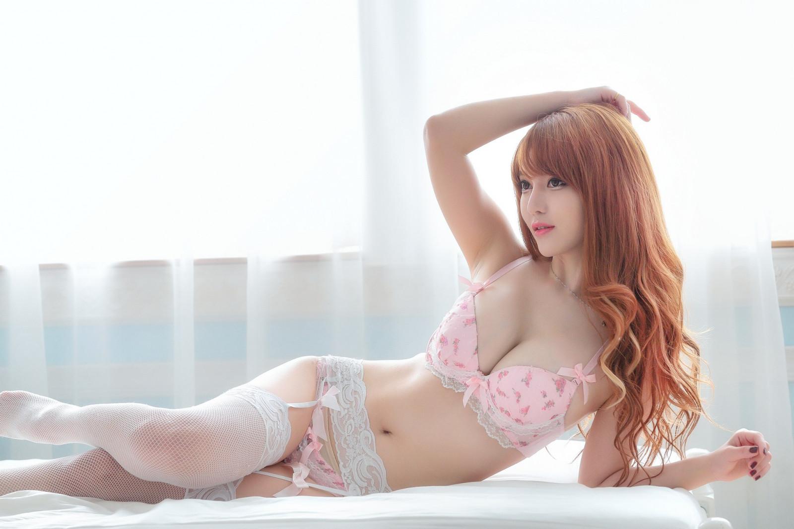 самые сексуальные азиатки в кружевах