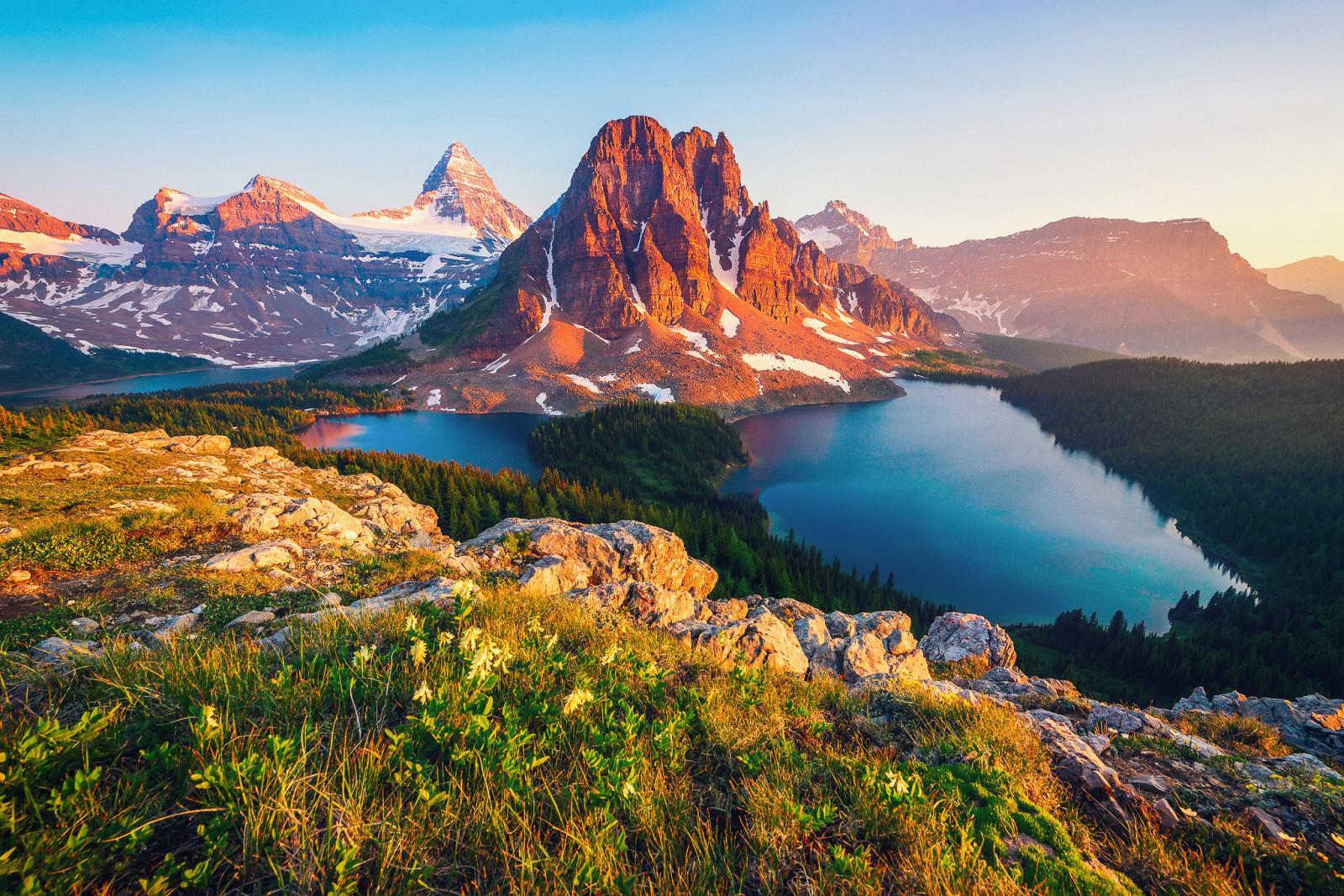 Fond d'écran : Canada, Colombie britannique, Montagne, Lac ...