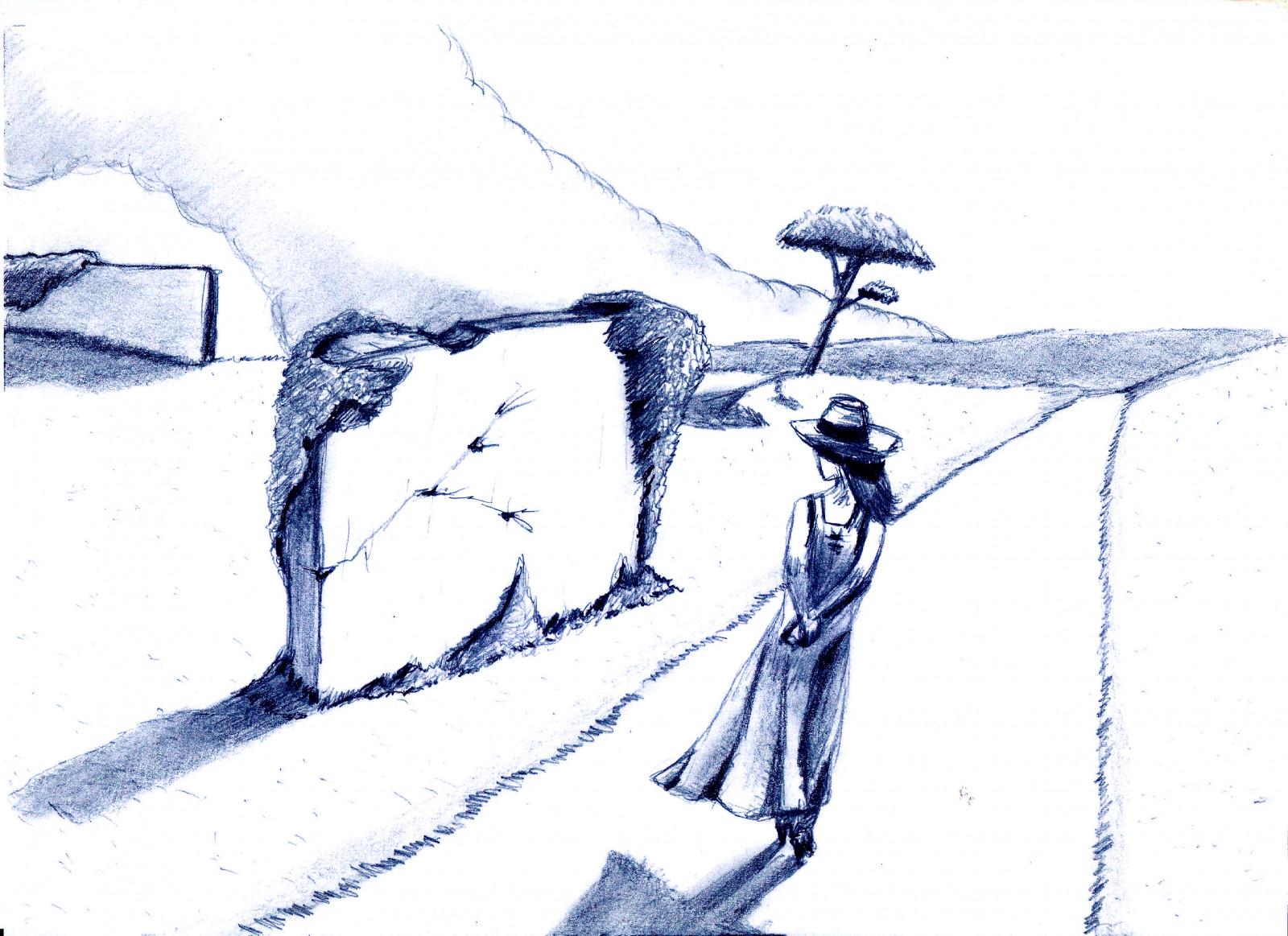 Wallpaper Sketsa Pemandangan 3507x2550 TastyyKilla