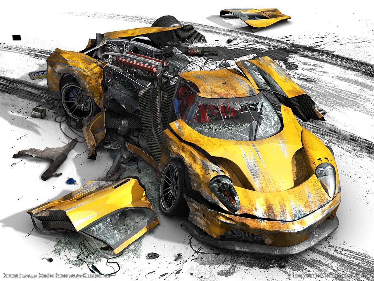 Wallpaper Vehicle Toy Sports Car Crash Destruction Burnout