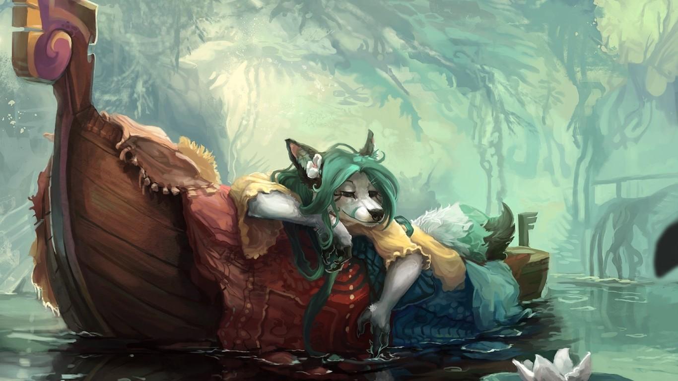 Anime Dragon Furry Anthro Mythology Screenshot 1366x768 Px Fictional Character