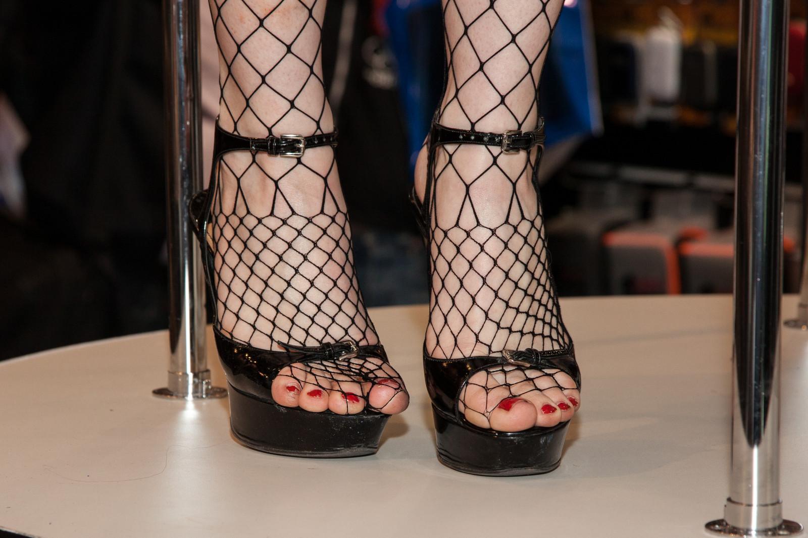 sexy nylons Foot in heel