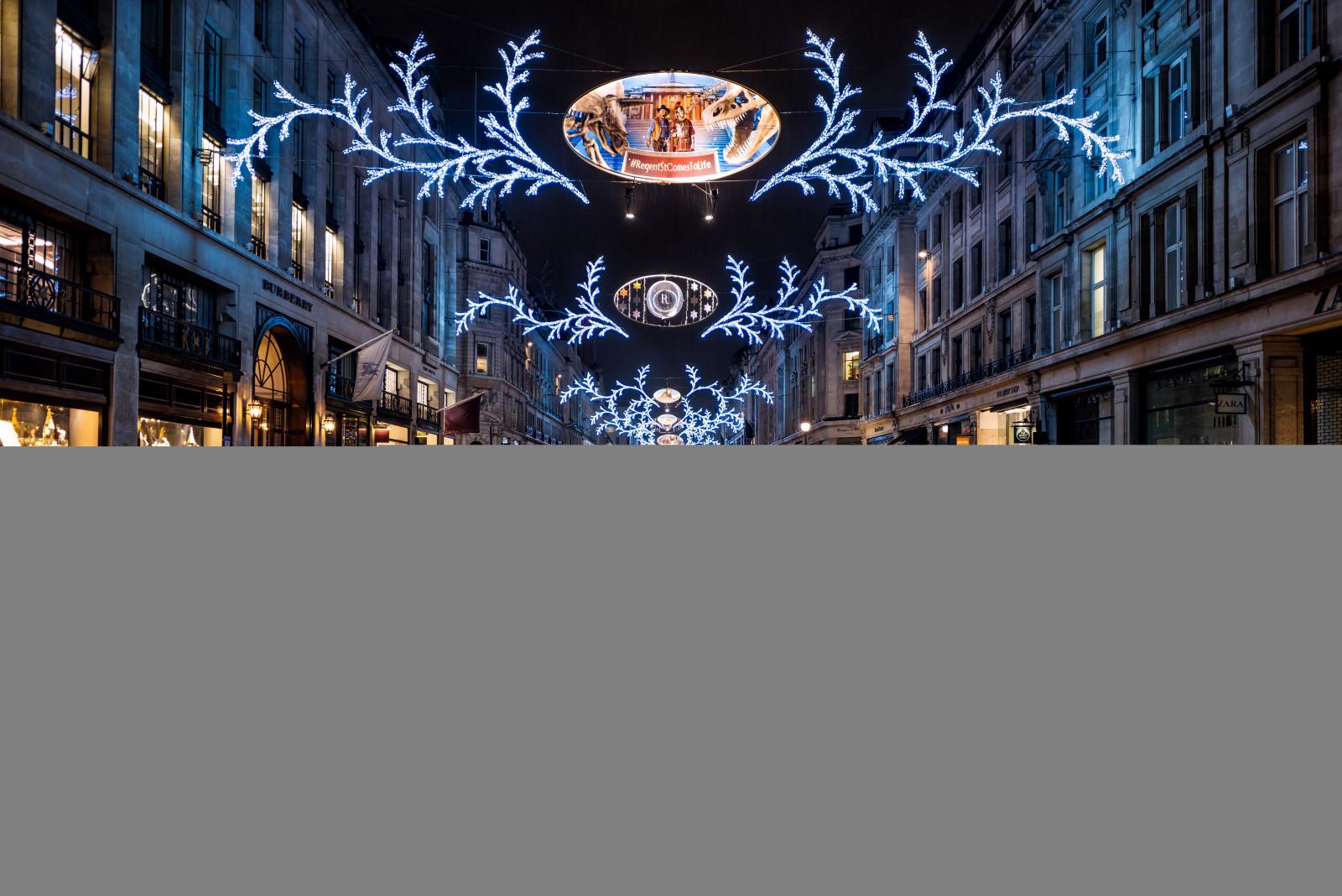 Lights London City Street Night Architecture Reflection Rain Tourism England Nikon Christmas UK Empty Shopping Festive