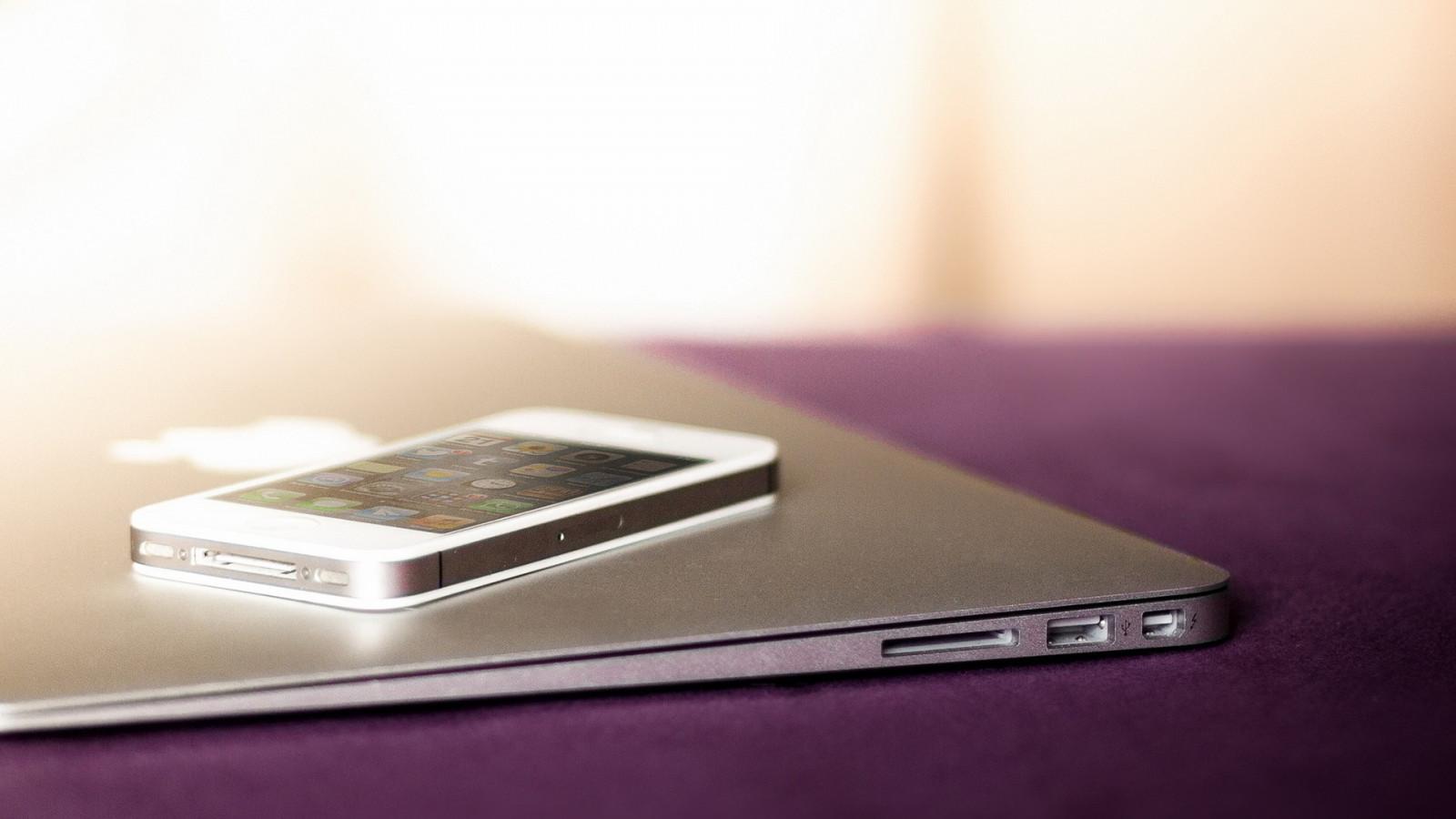 デスクトップ壁紙 Iphone 5 マックブック 林檎 1920x1080