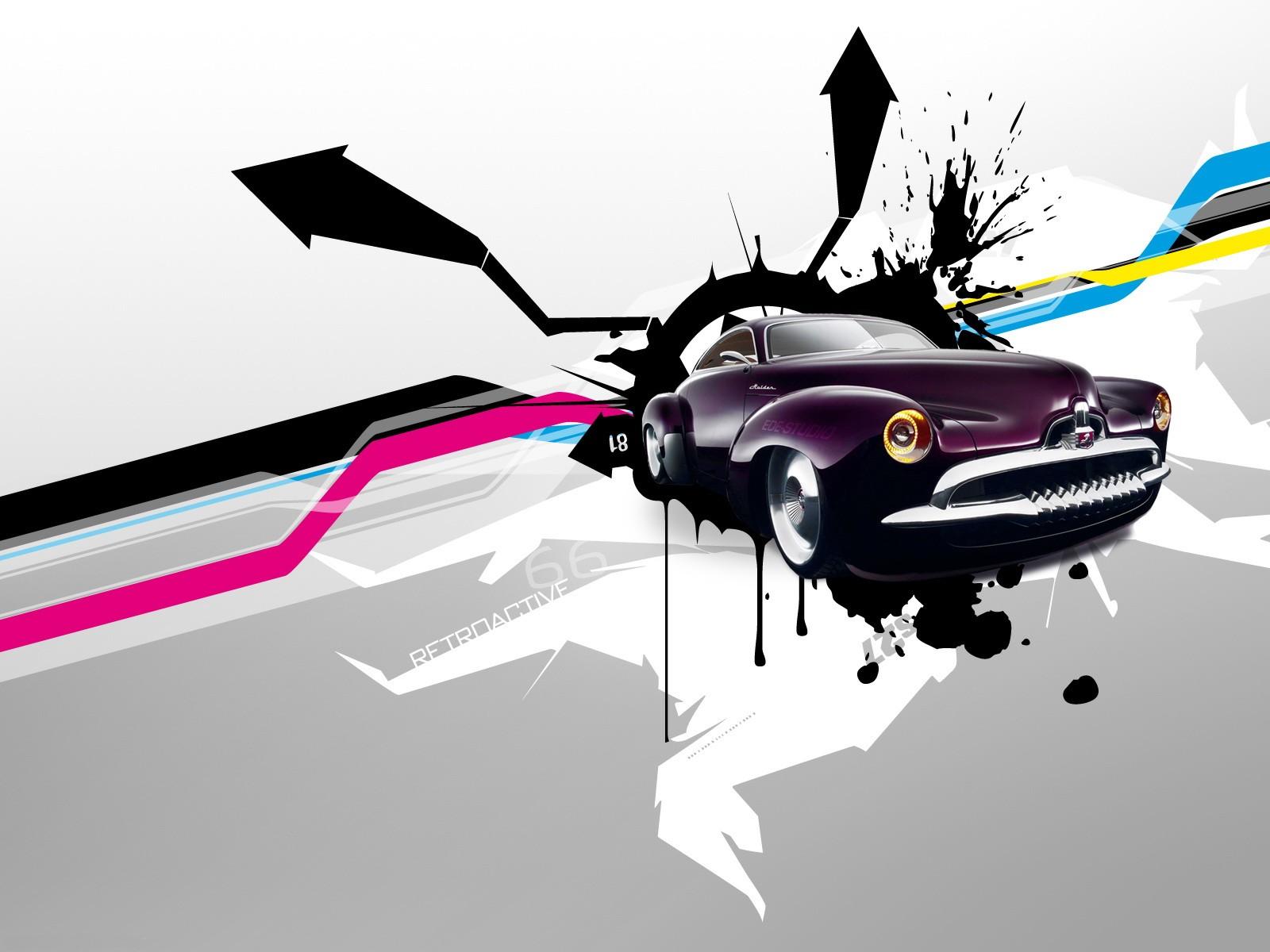Wallpaper Ilustrasi Seni Digital Mobil Kendaraan