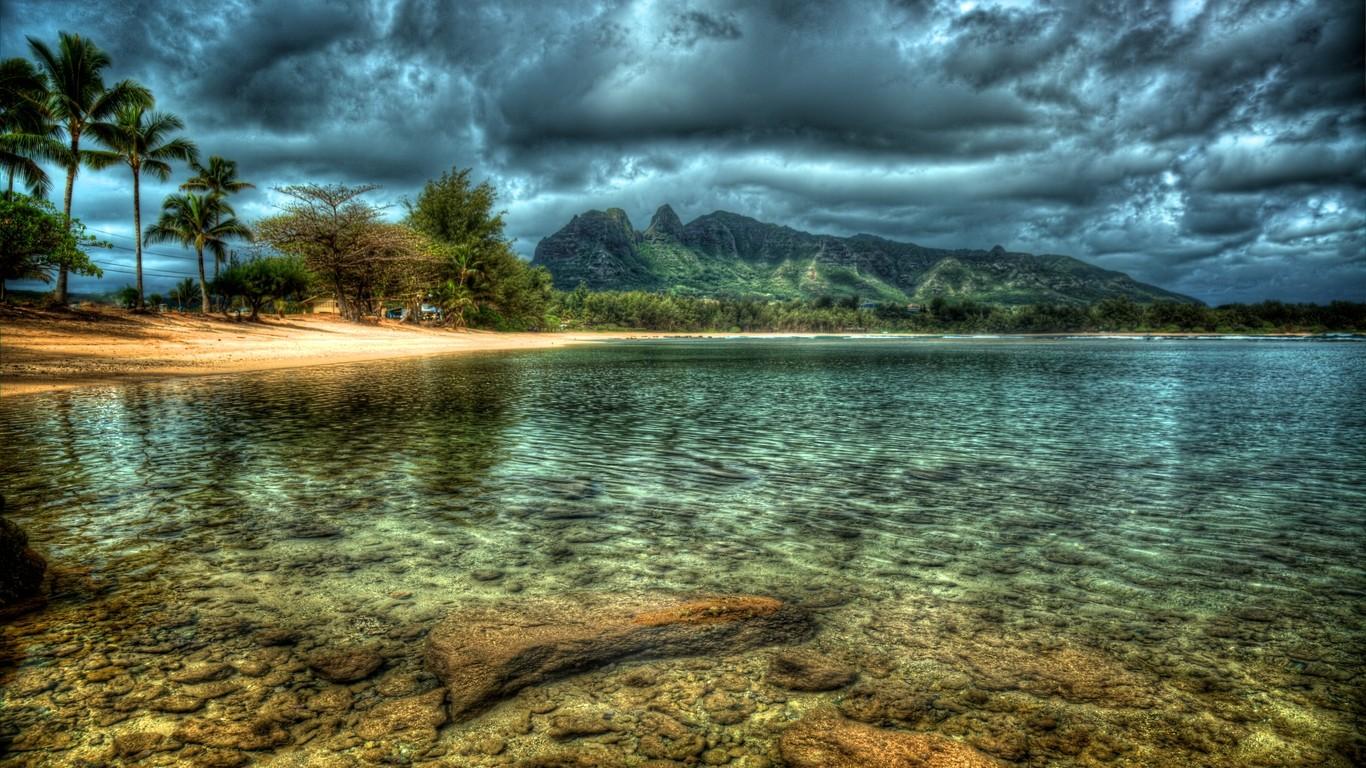 Masaüstü Manzara Orman Deniz Göl Su Yansıma Plaj Vahşi Doğa