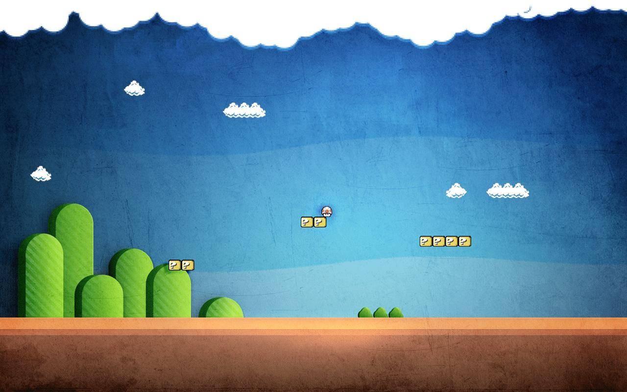 Hintergrundbilder : Malerei, Mauer, Grün, blau, Super Mario ...