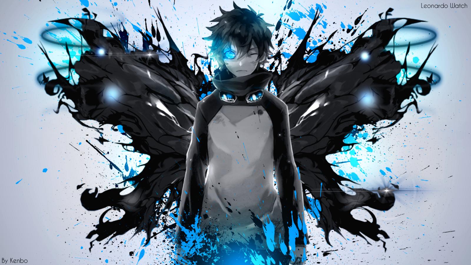 Wallpaper : Kekkai Sensen, anime boys, blue, Leonardo ...