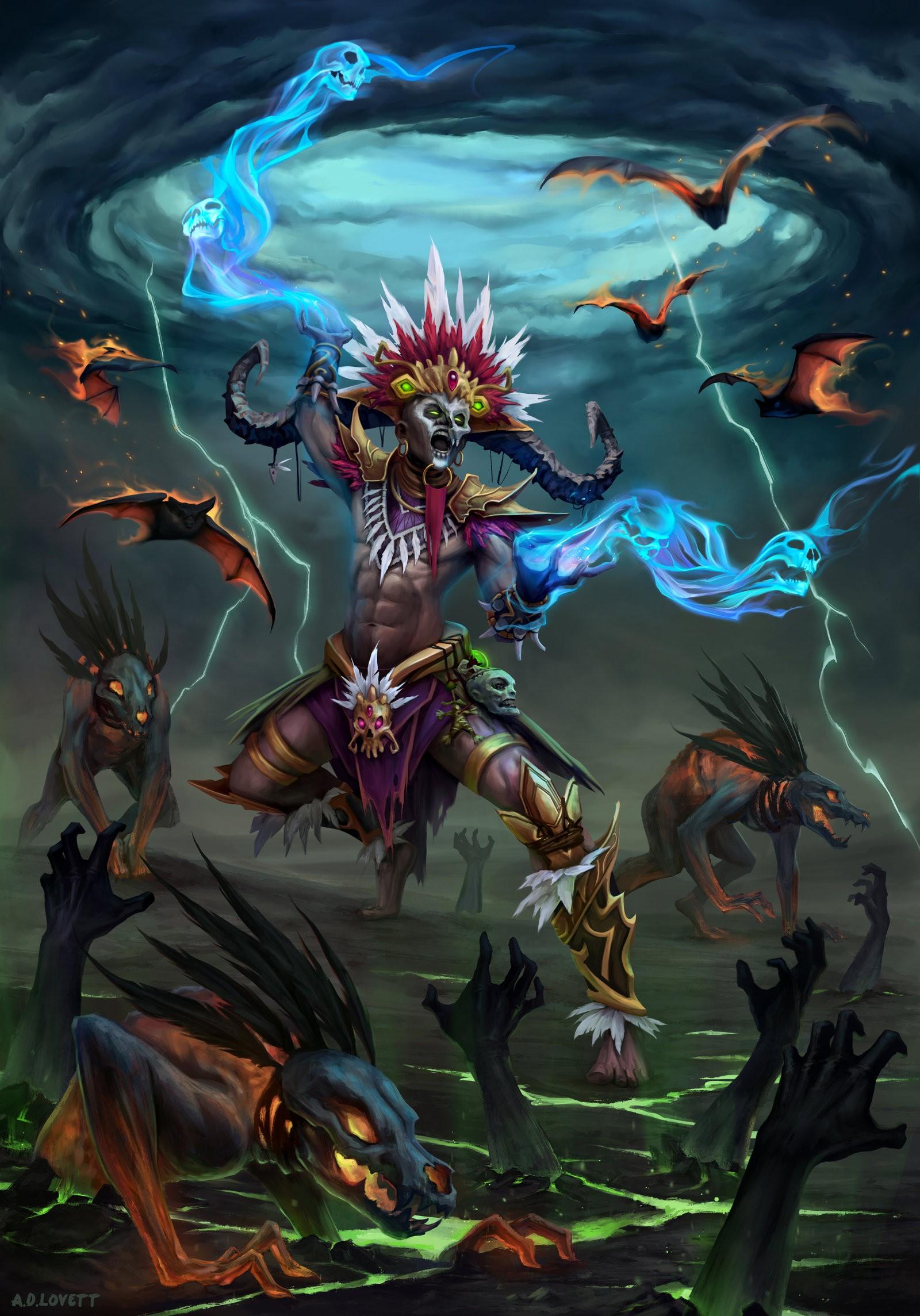 Illustration Anime Diablo III Mythology 3 Reaper Of Souls Witch Doctor Screenshot Computer Wallpaper