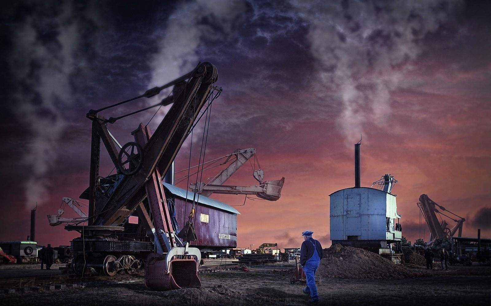 Cool Wallpaper Night Evening - 1600x1000_px_Engineering_landscape_Machine_Pollution_Shovels_sunset_work-699750  Gallery-662332.jpg!d