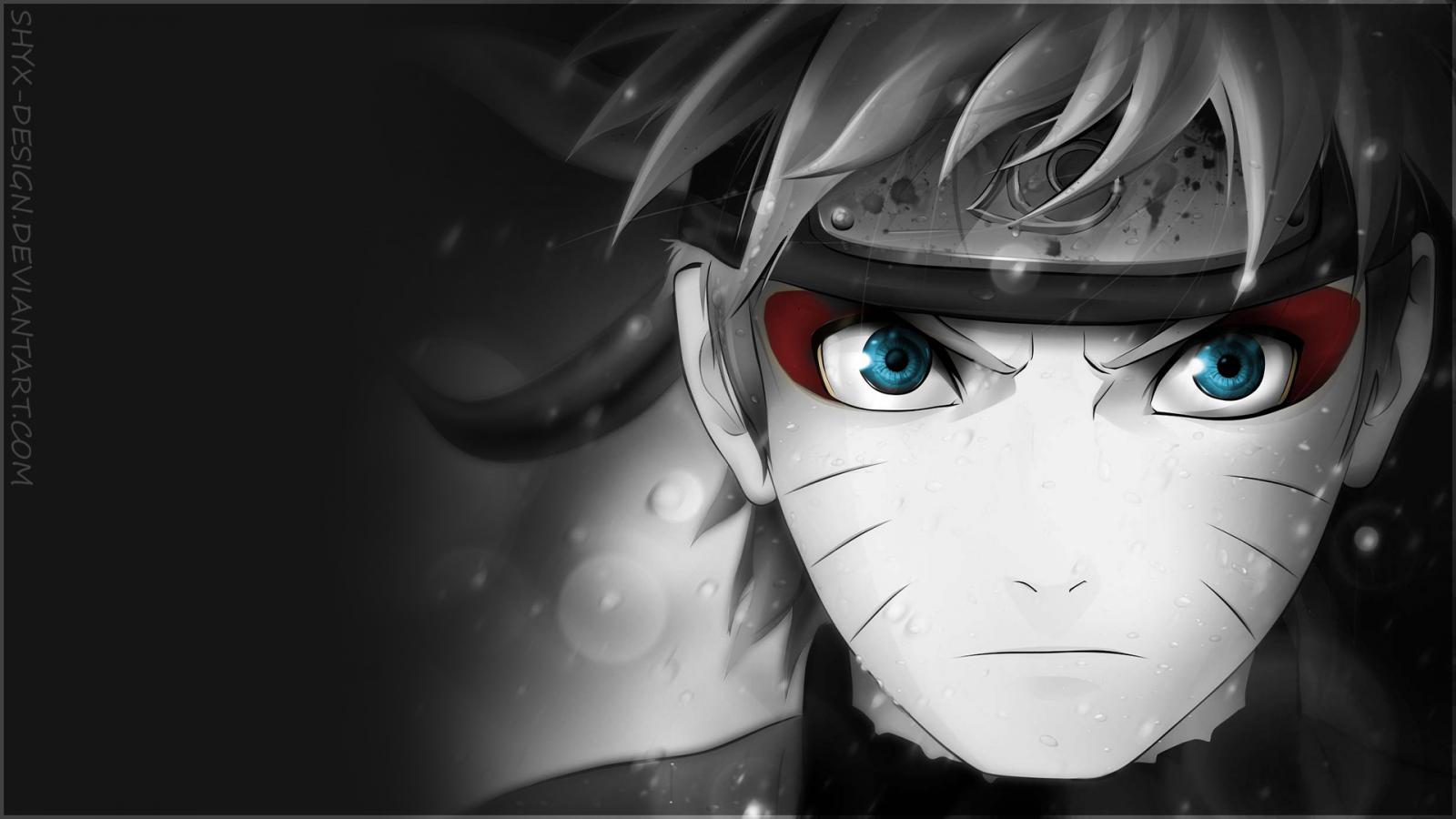 Wallpaper : anime boys, selective coloring, Naruto ...