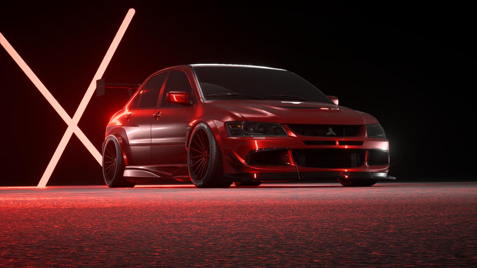 Wallpaper : evo, Mitsubishi Lancer Evo X, red, Need for ...