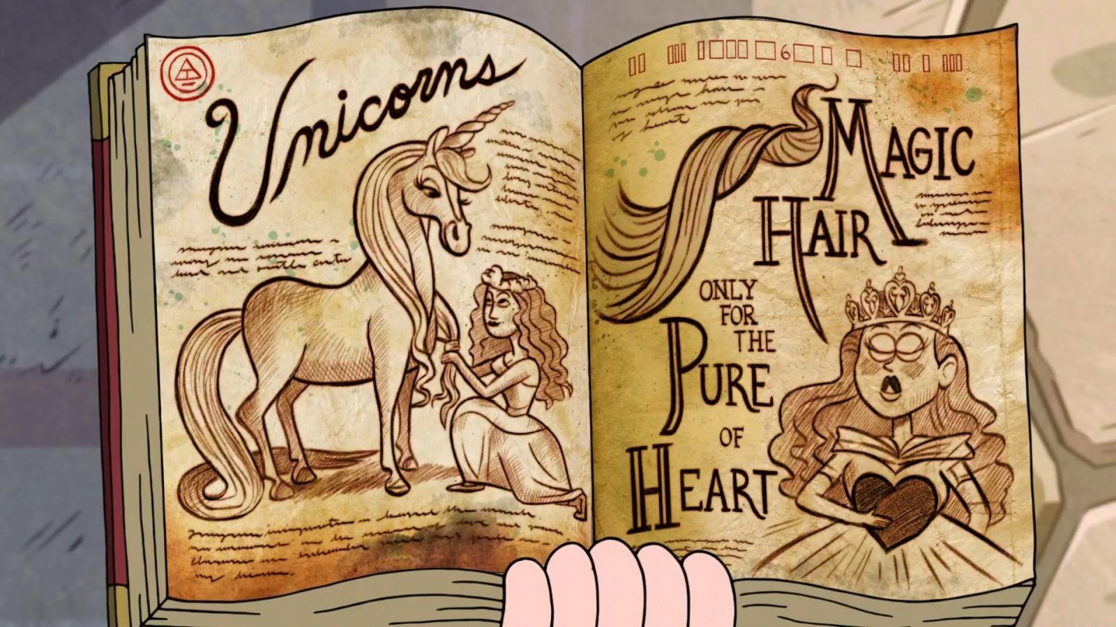 Wallpaper Ilustrasi Gambar Kartun Unicorn Gravity Falls Seni