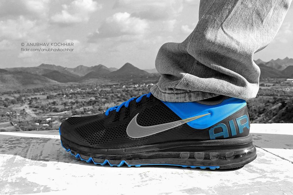 Fond d'écran : Nike, air Max, chaussure, chaussures, bleu