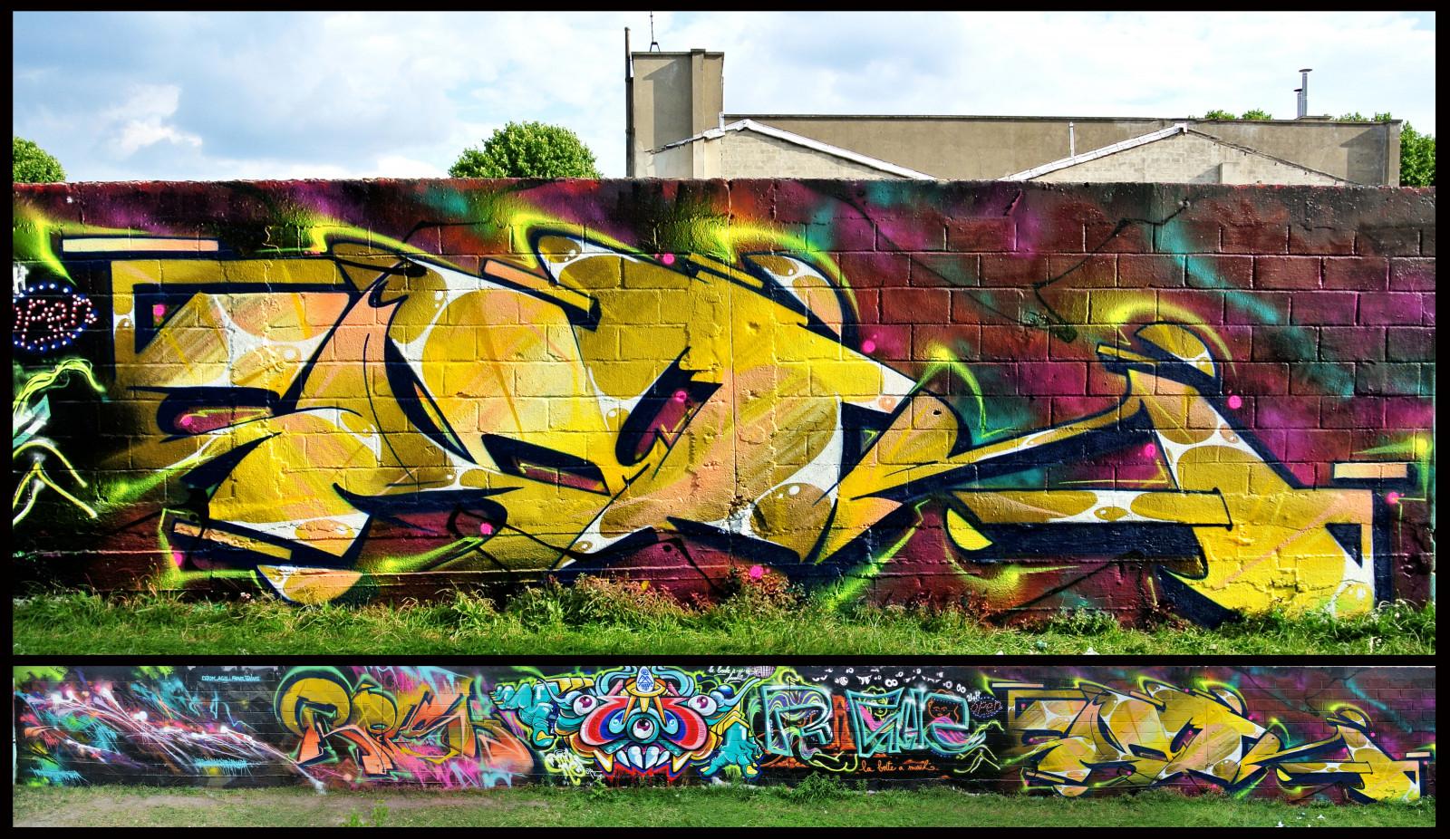 Wallpaper : yak, Terrain, Paris, France, ART, colors, wall, writing ...