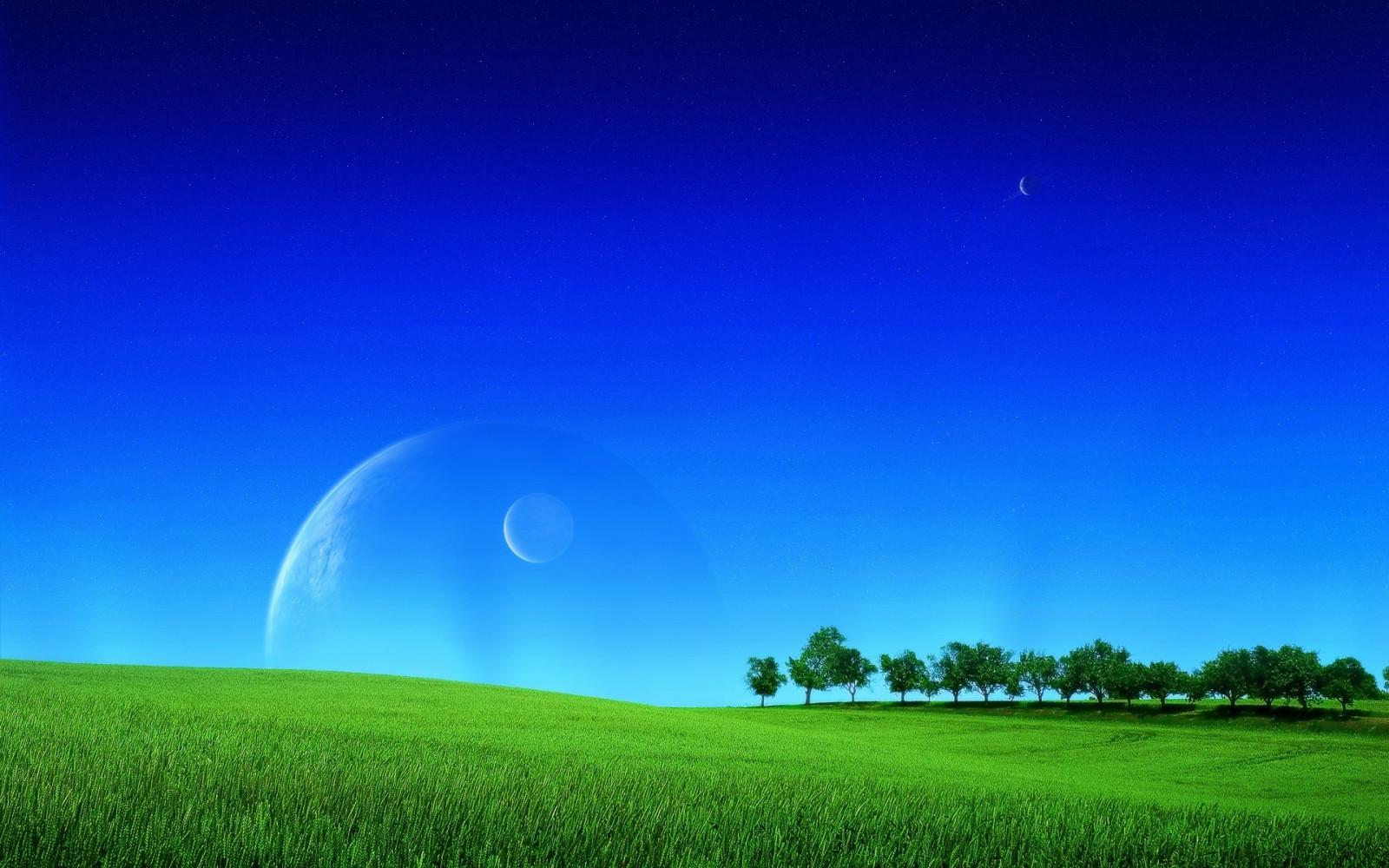 Fond d 39 cran paysage la nature espace herbe ciel for Paysage espace