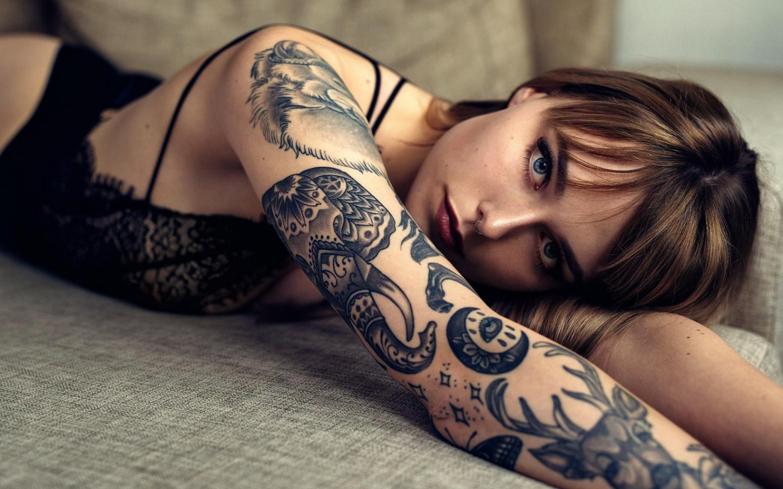 Качественное тату для девушки