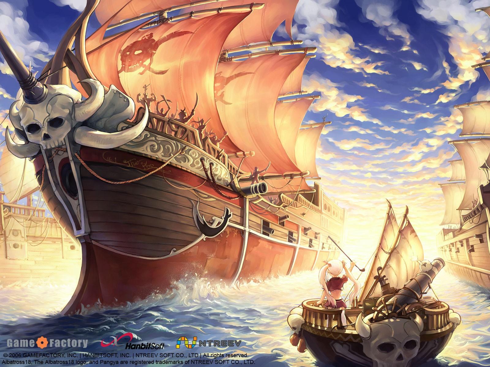 Fond D écran Illustration Navire Anime Véhicule Dessin Animé