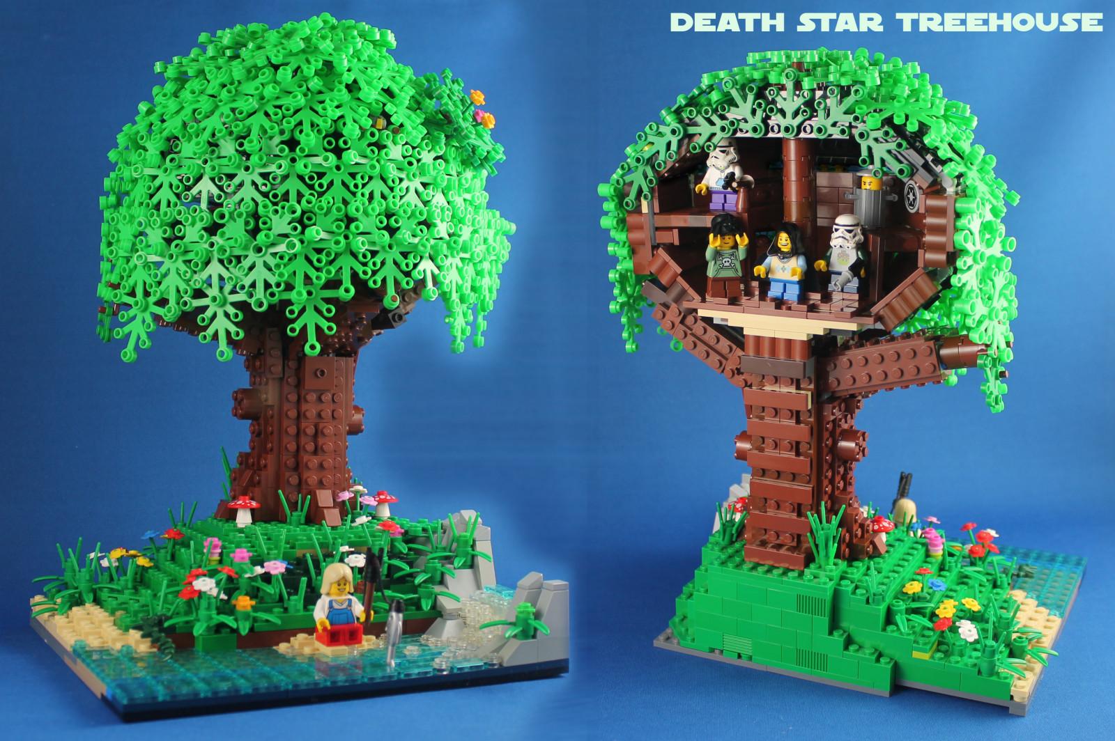 wallpaper  lego moc star wars death tree leaf