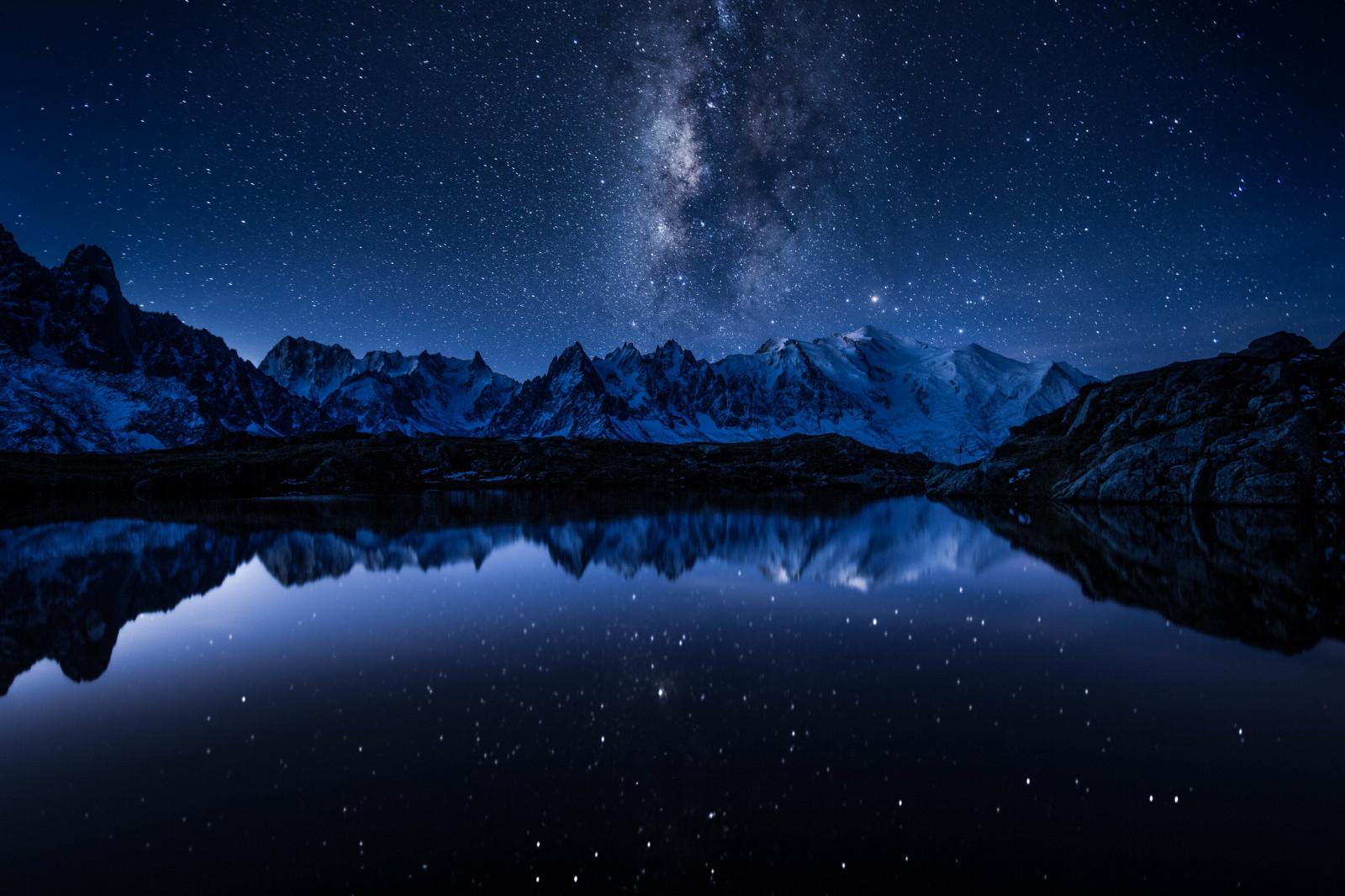 湖と天の川