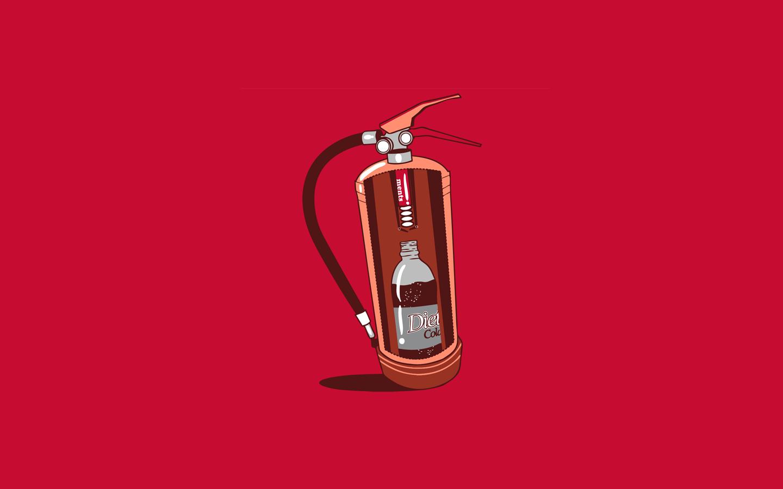 Sfondi Threadless Minimalismo Umorismo Estintori Coca Cola