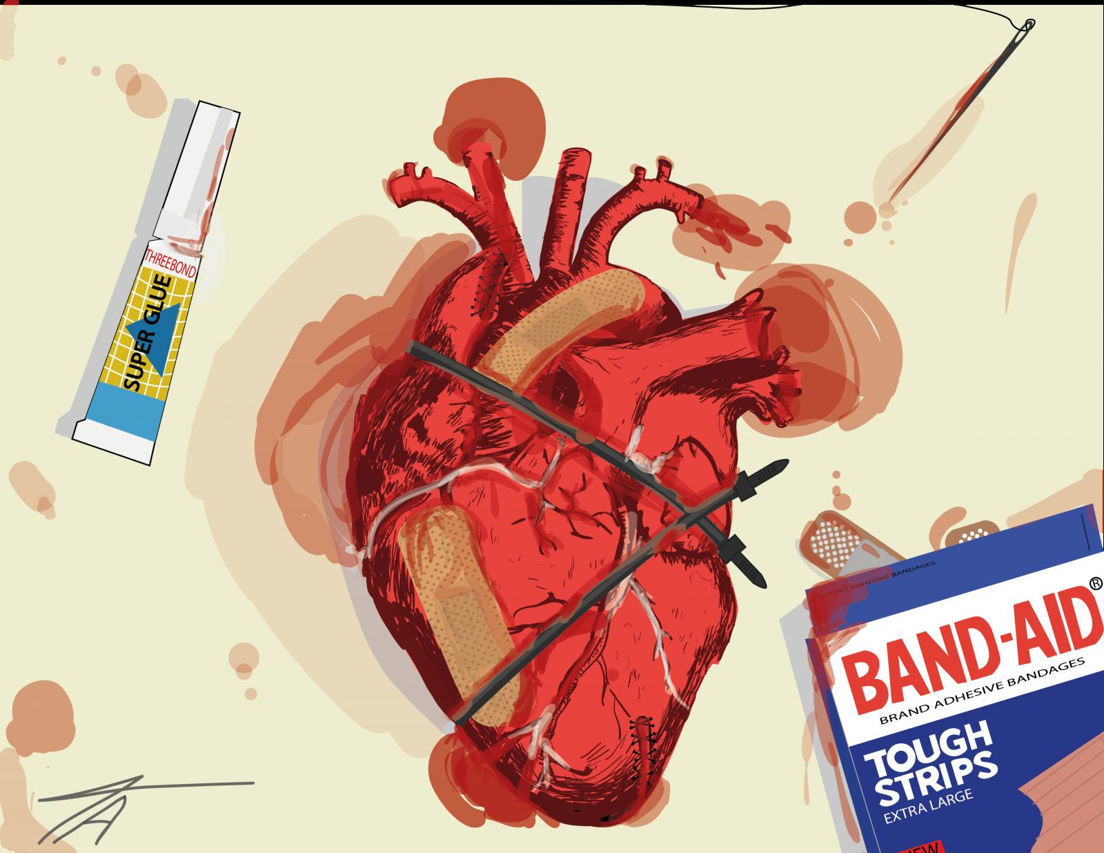 Sfondi illustrazione cuore cartone animato i fumetti