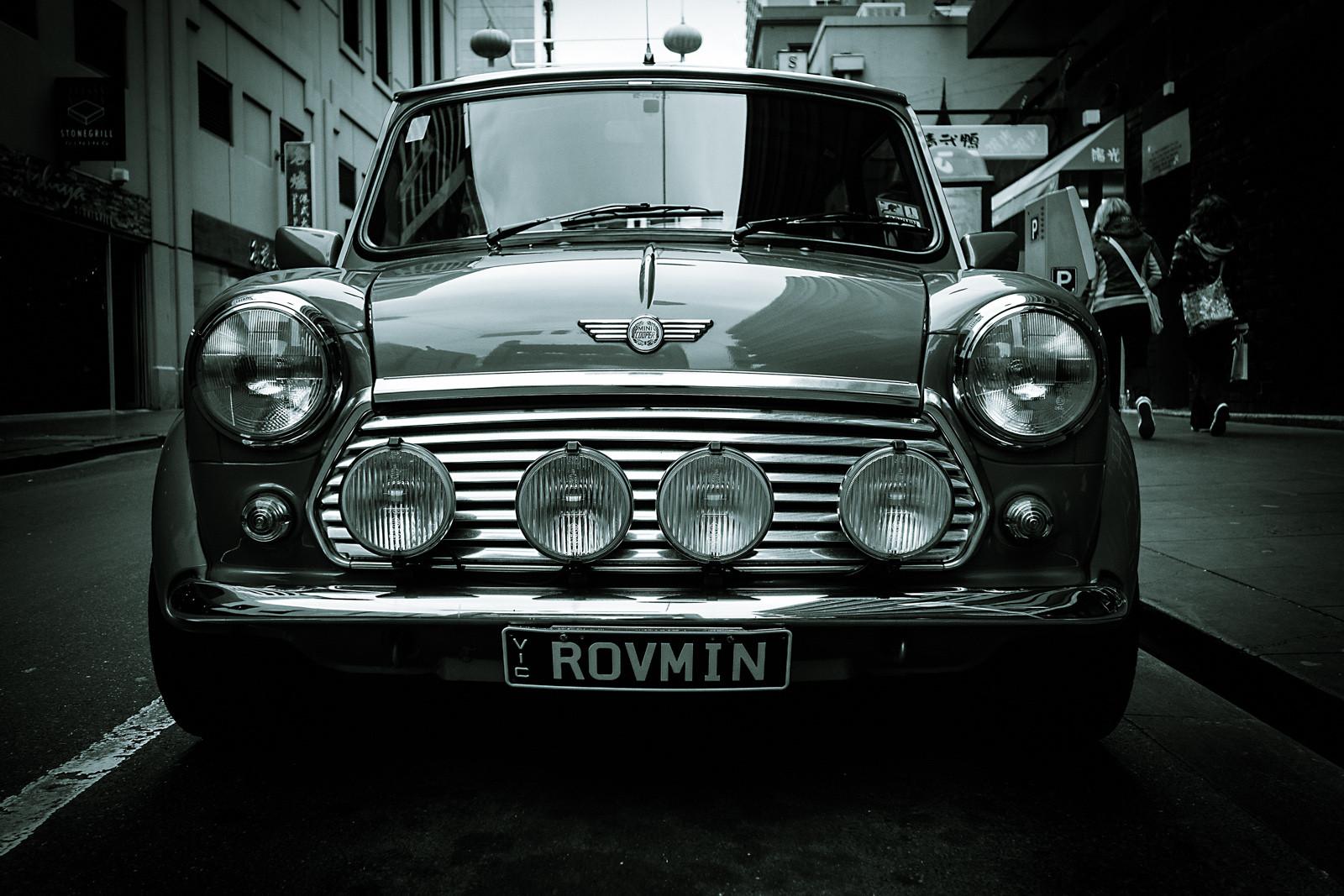 Wallpaper Monochrome Vintage Car Mini Cooper Rover Melbourne