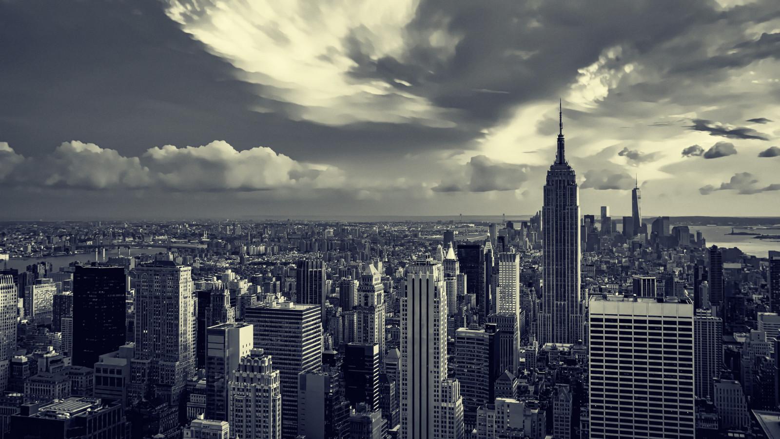 Sfondi monocromo citt paesaggio urbano cielo nuvole for Foto alta definizione bianco e nero
