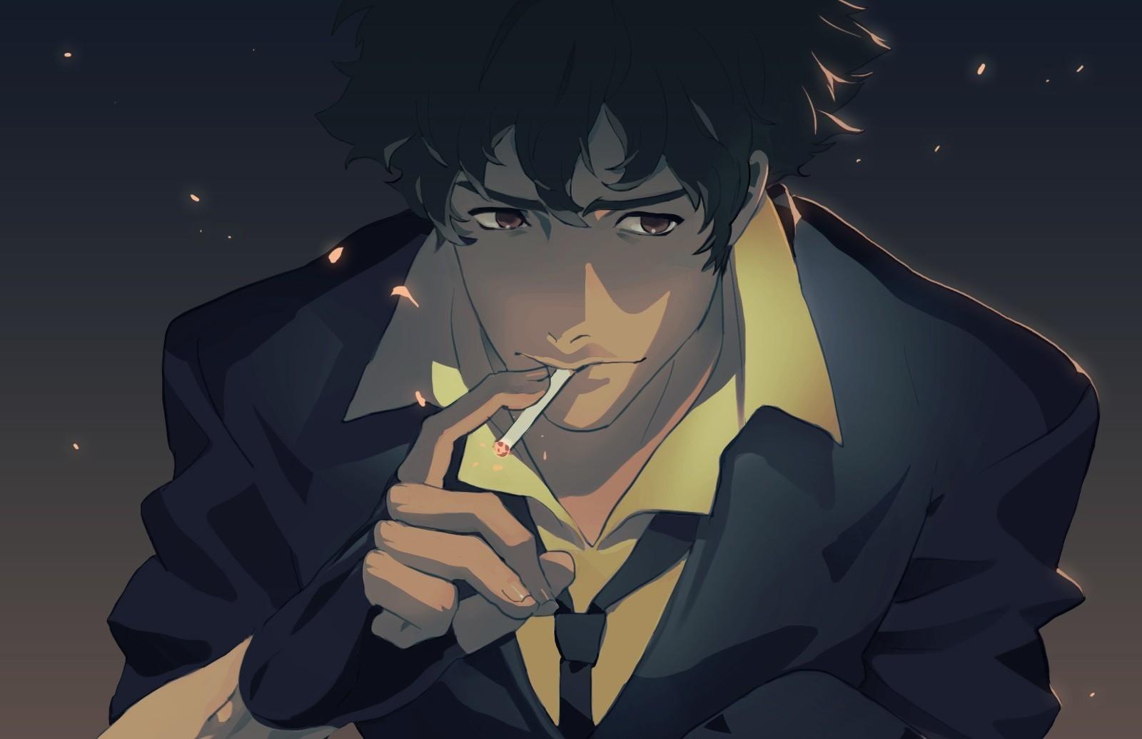 Wallpaper Illustration Anime Cowboy Bebop Spike Spiegel