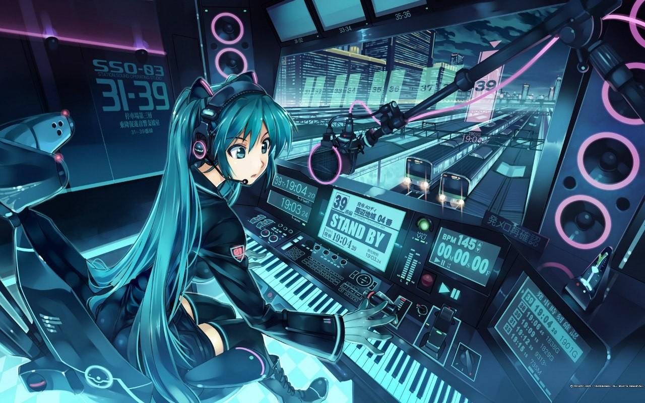 デスクトップ壁紙 アニメの女の子 ボーカロイド 初音ミク 機械