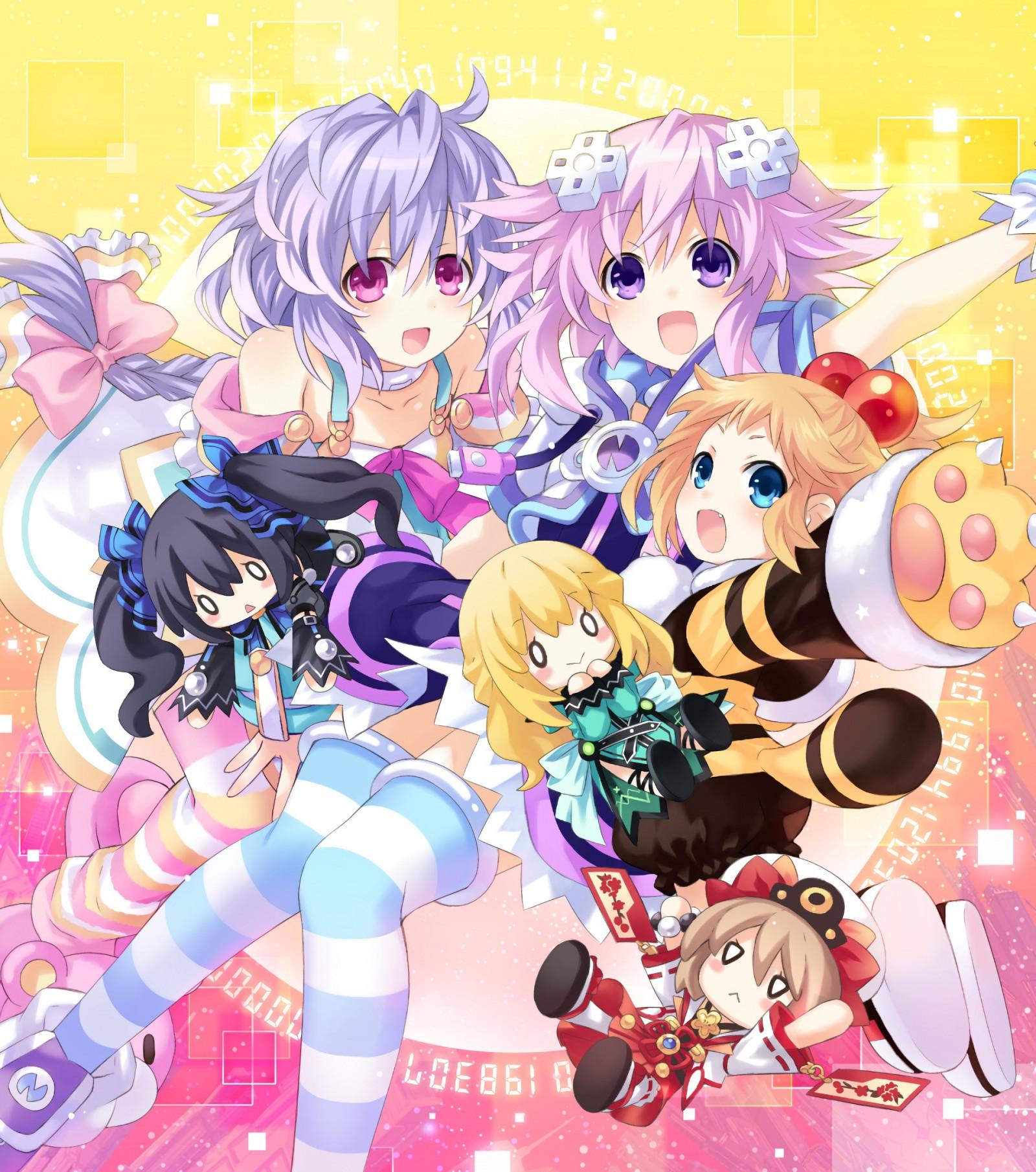 HD wallpaper: Hyperdimension Neptunia, anime girls