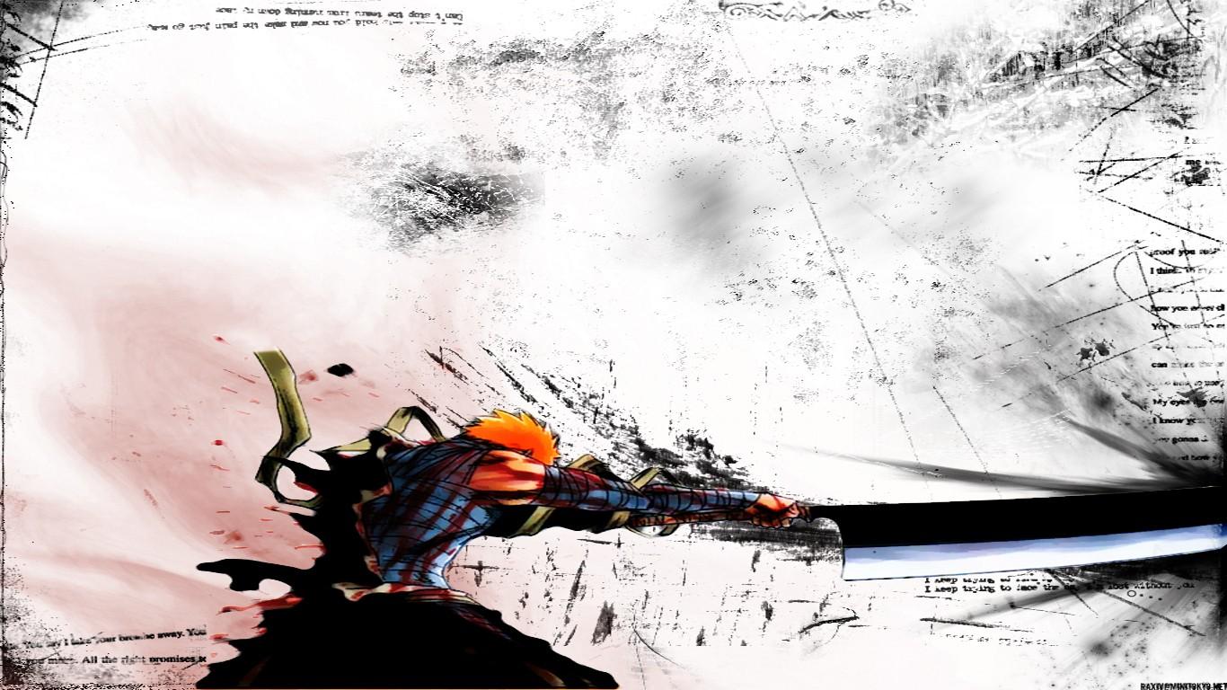 Wallpaper Ilustrasi Anime Gambar Kartun Grunge Pedang
