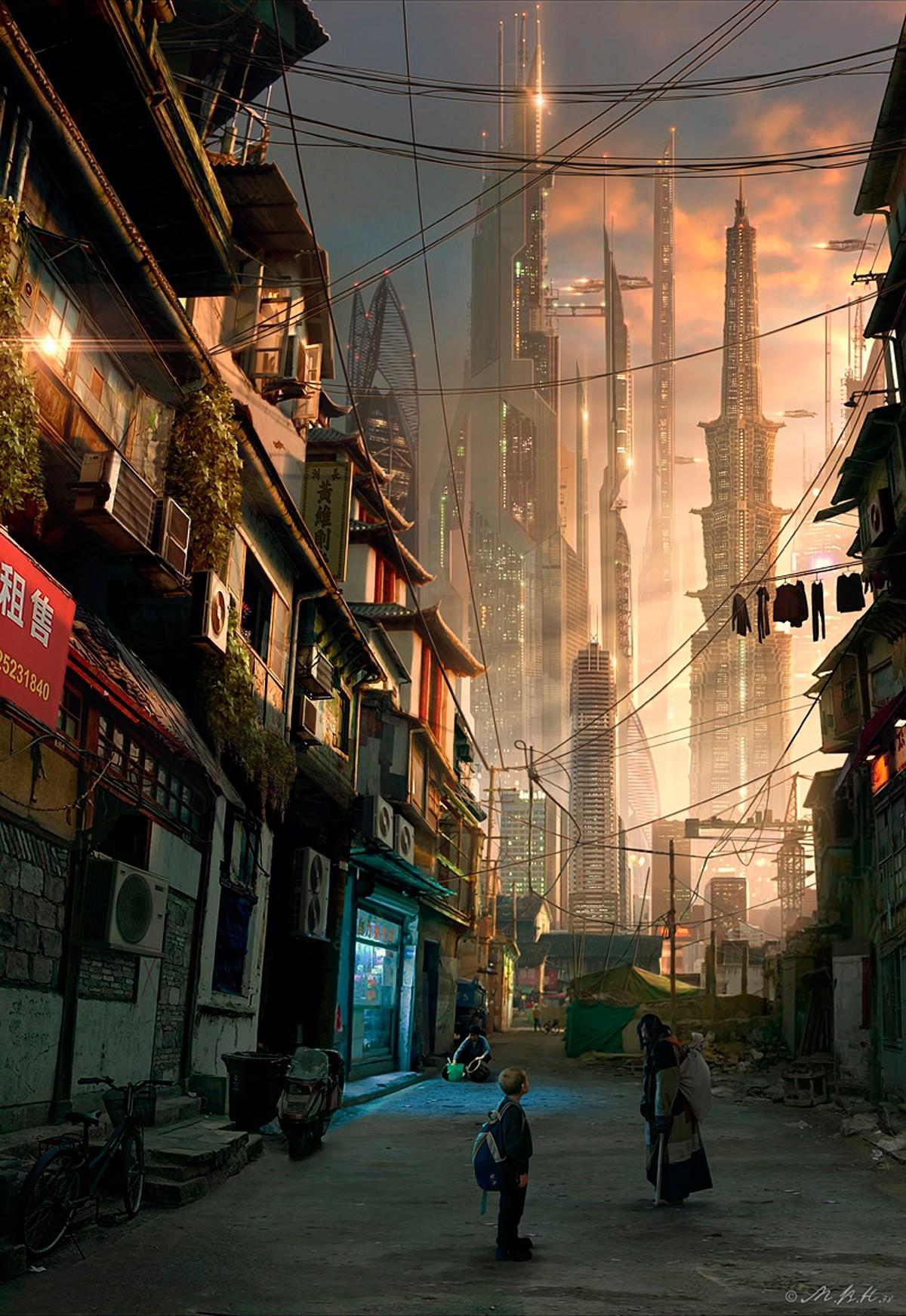 デスクトップ壁紙 超高層ビル 中国 アジア 未来都市 アートワーク 通り 路地 サイバーパンク 10x1743 Xidas デスクトップ壁紙 Wallhere