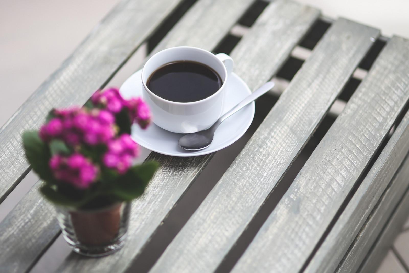 Картинки чашка кофе с цветком, открытки мая