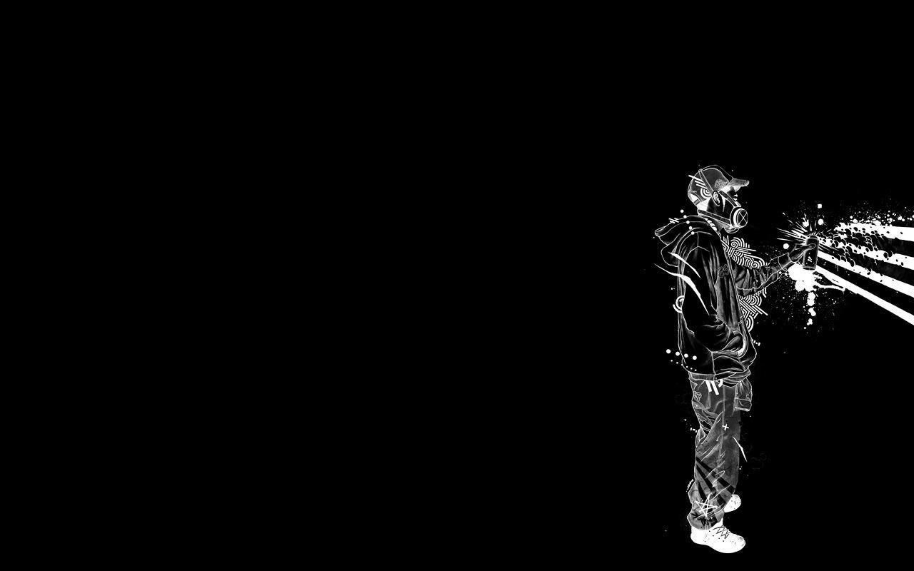 Wallpaper Minimalism Artwork Graffiti Darkness Black And White