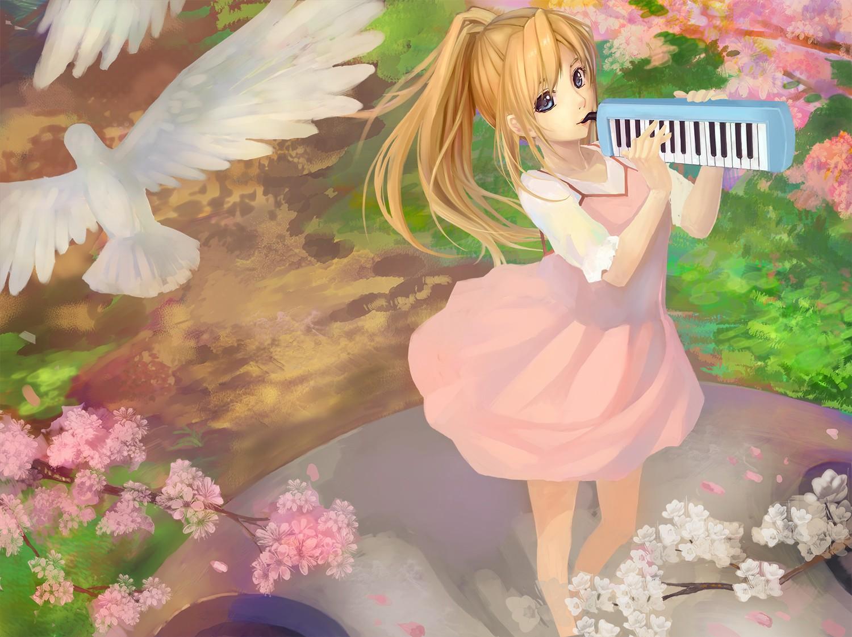 Wallpaper Anime Girls Shigatsu Wa Kimi No Uso Miyazono Kaori