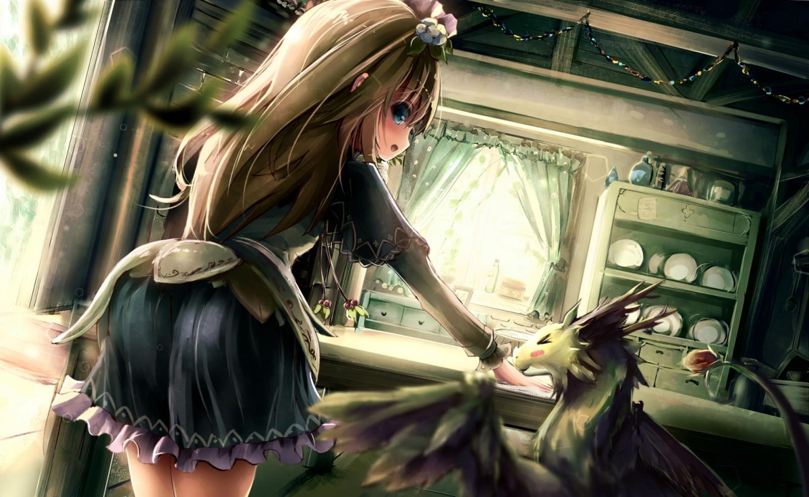 Картинки девушка с драконом аниме, воздвижении