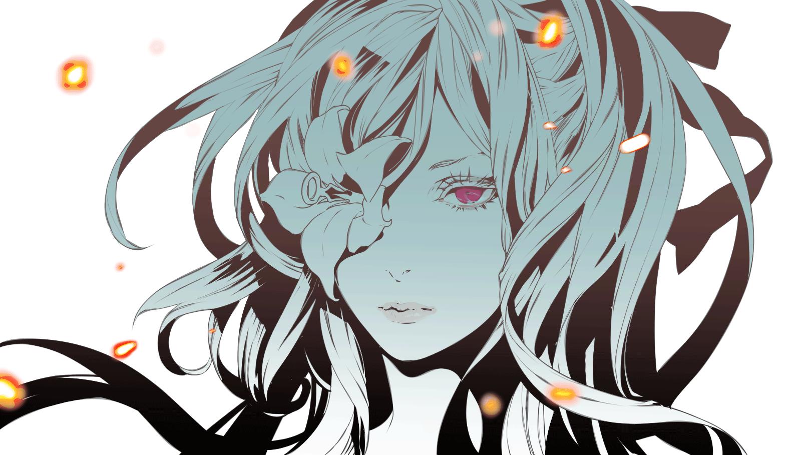 Wallpaper : Illustration, Anime Girls, Cartoon, Demon