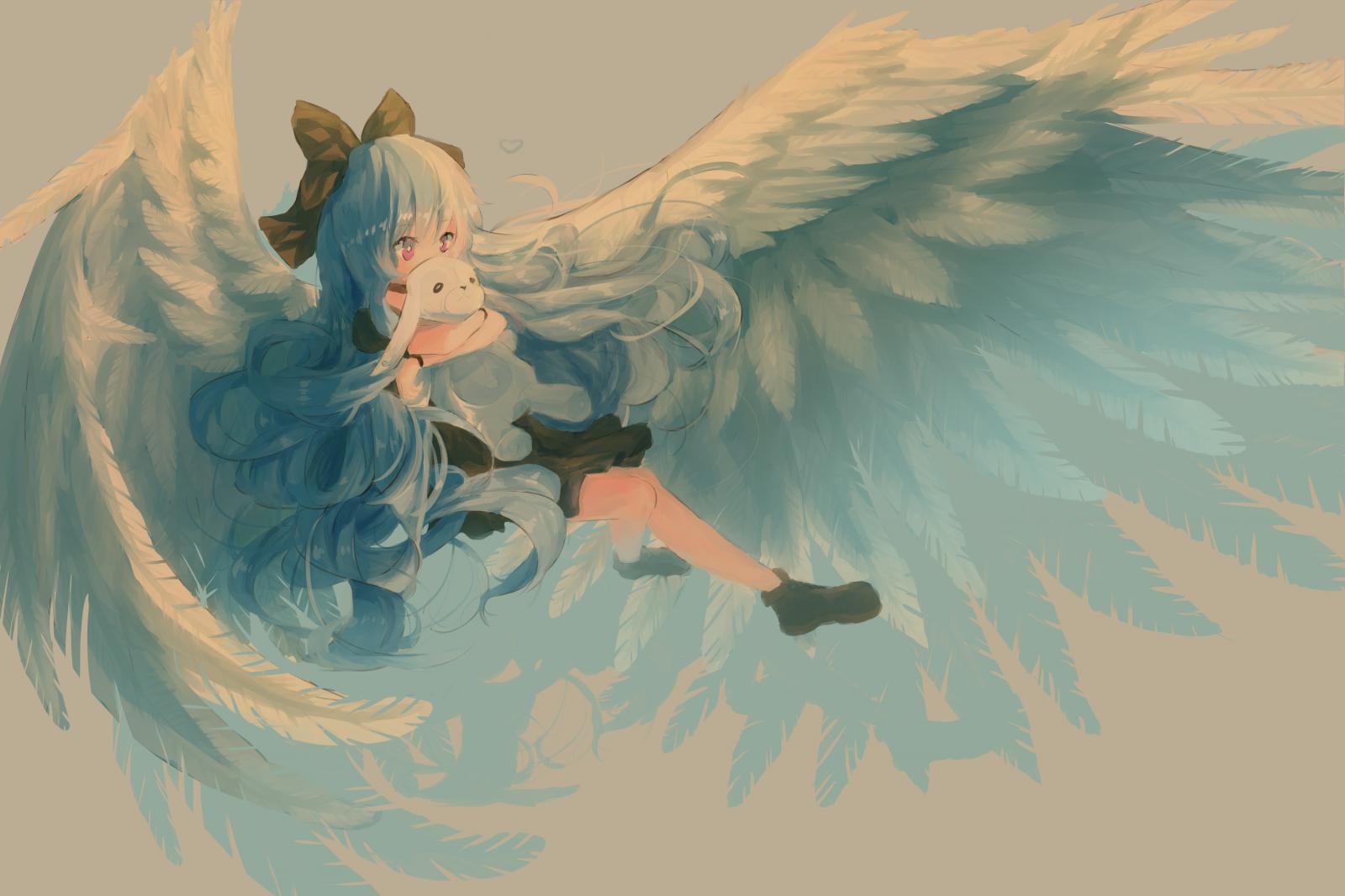 красивые рисунки ангелов с крыльями направление