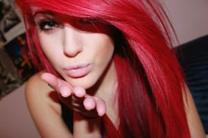 Colore capelli rosso rosa