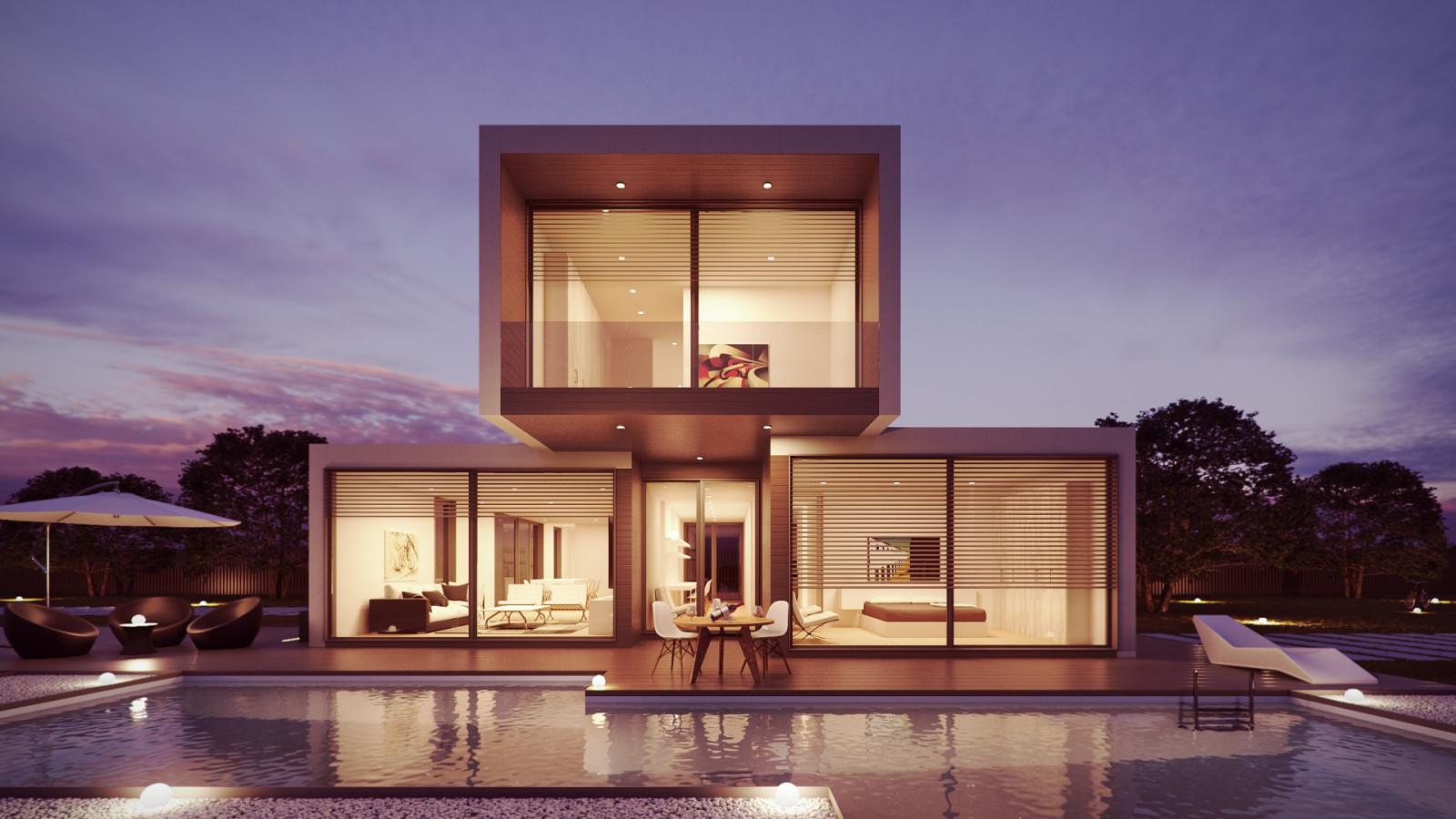 Architecture intérieur maison moderne design dintérieur biens éclairage conception maison piscine villa professionnel manoir
